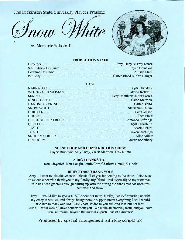 2009-2010 Snow White - PROGRAM.pdf